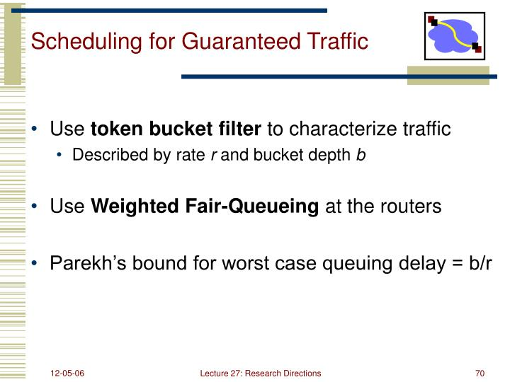 Scheduling for Guaranteed Traffic