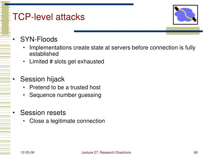 TCP-level attacks