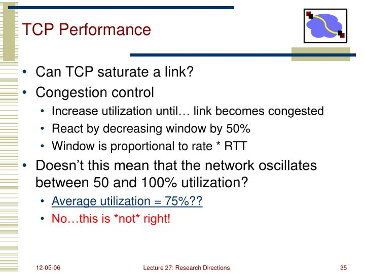 TCP Performance