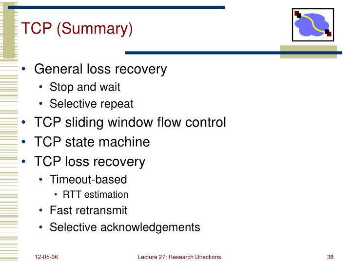 TCP (Summary)