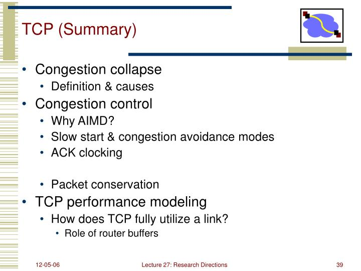 TCP (Summary)