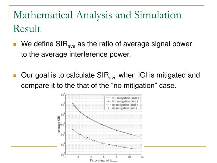 Mathematical Analysis and Simulation Result