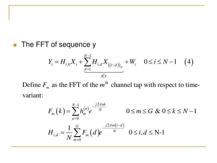 The FFT of sequence y