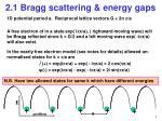 2 1 bragg scattering energy gaps