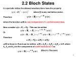 2 2 bloch states