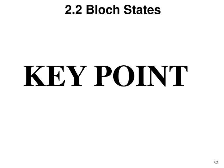 2.2 Bloch States