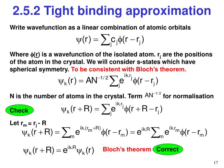 Write wavefunction as a linear combination of atomic orbitals