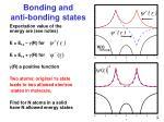 bonding and anti bonding states