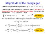 magnitude of the energy gap