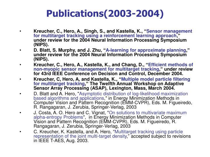 Publications(2003-2004)