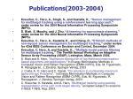 publications 2003 2004