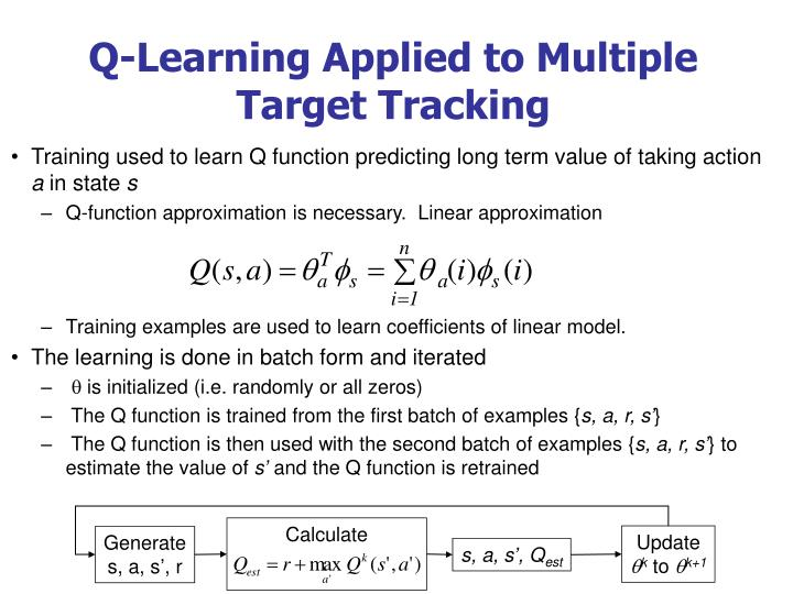 Q-Learning Applied to Multiple Target Tracking