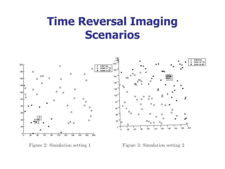 Time Reversal Imaging Scenarios