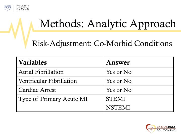 Methods: Analytic Approach