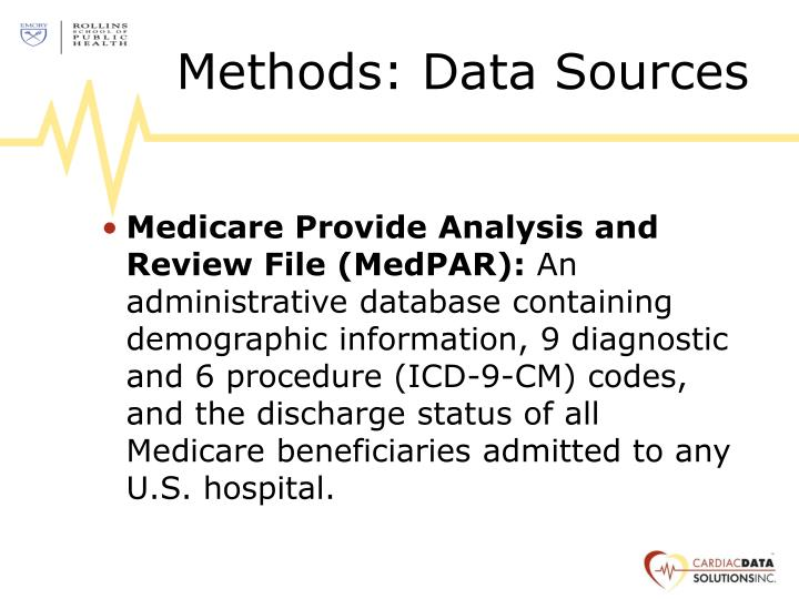 Methods data sources