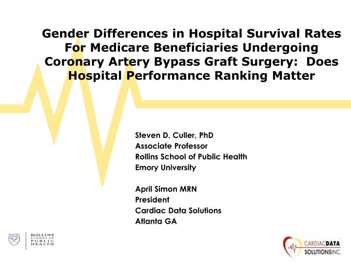 Gender Differences in Hospital Survival Rates For Medicare Beneficiaries Undergoing Coronary Artery ...