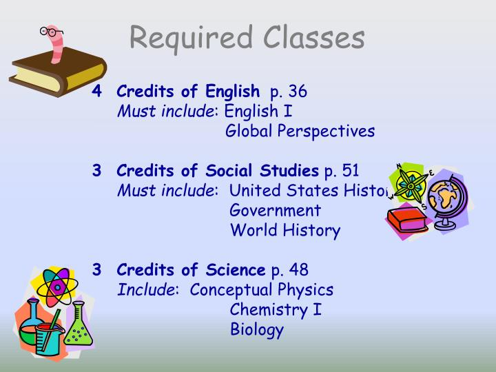 Required Classes