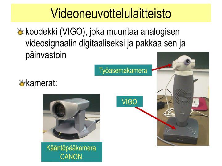 Videoneuvottelulaitteisto