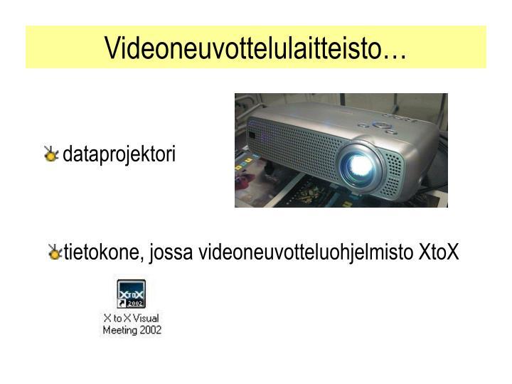 Videoneuvottelulaitteisto…