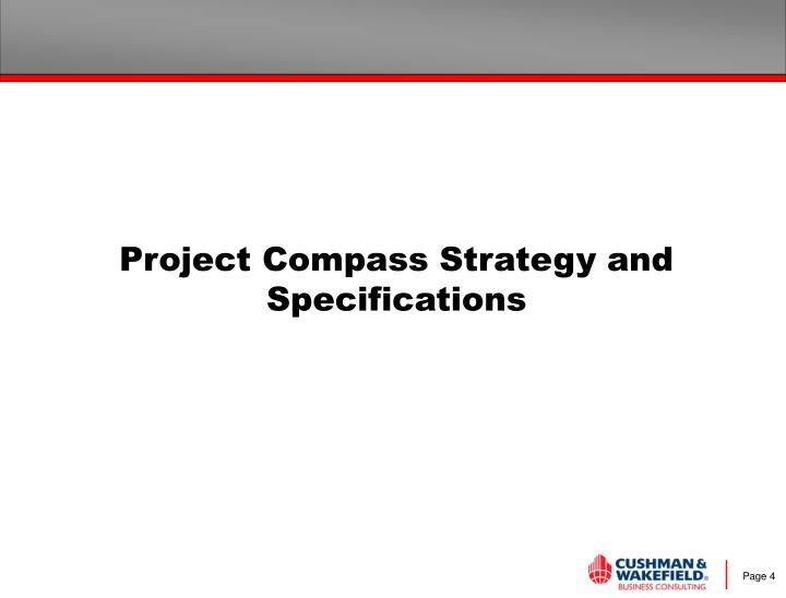Project Compass Strategy and Specifications