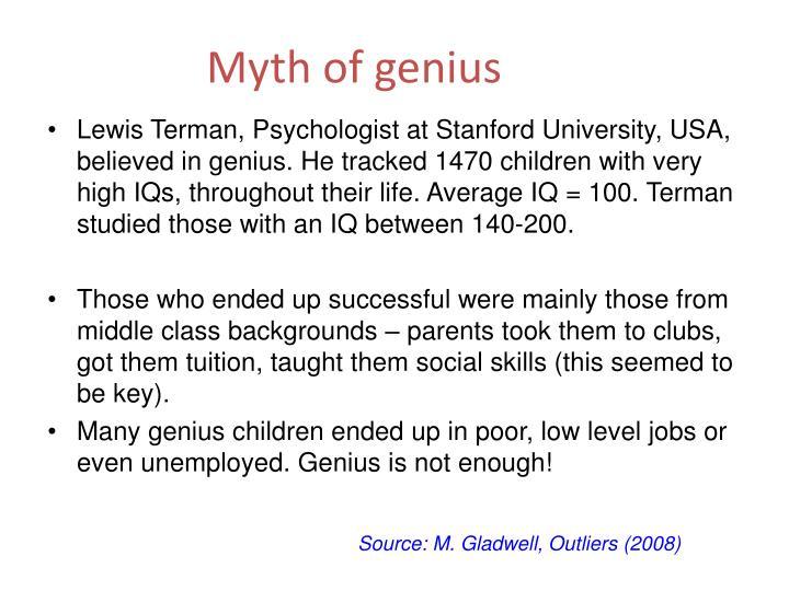 Myth of genius