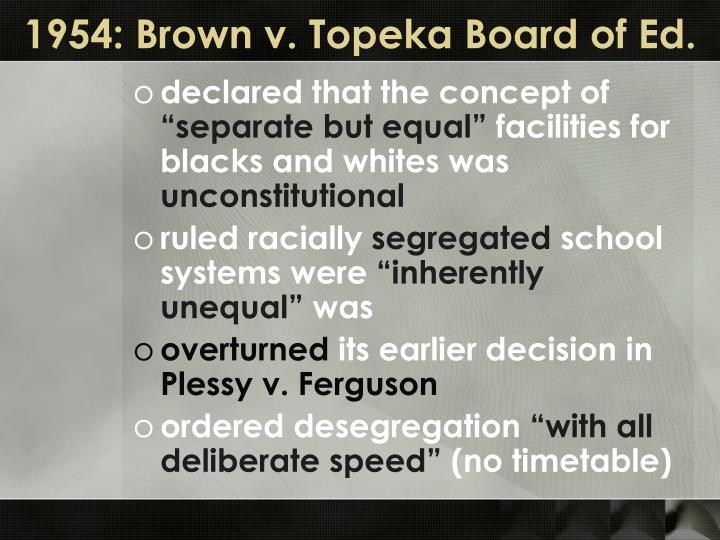 1954: Brown v. Topeka Board of Ed.