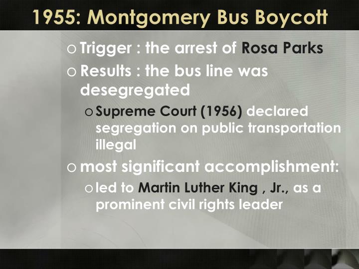 1955: Montgomery Bus Boycott