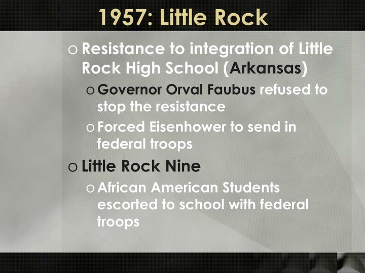 1957: Little Rock