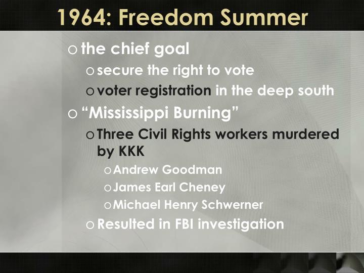 1964: Freedom Summer