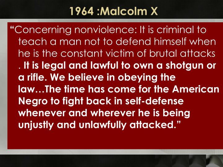 1964 :Malcolm X