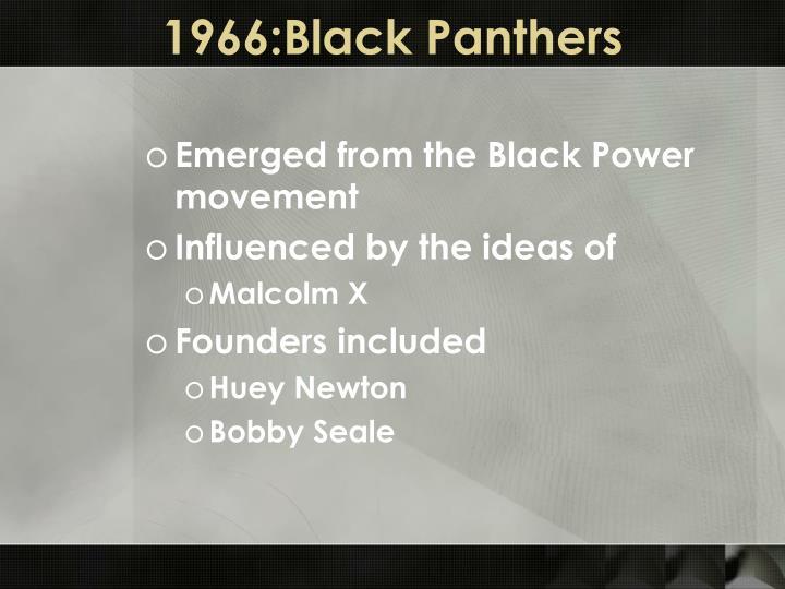 1966:Black Panthers