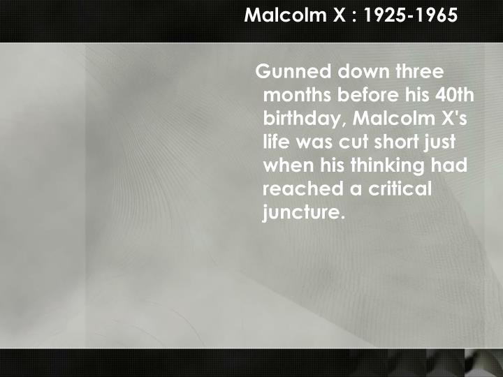 Malcolm X : 1925-1965