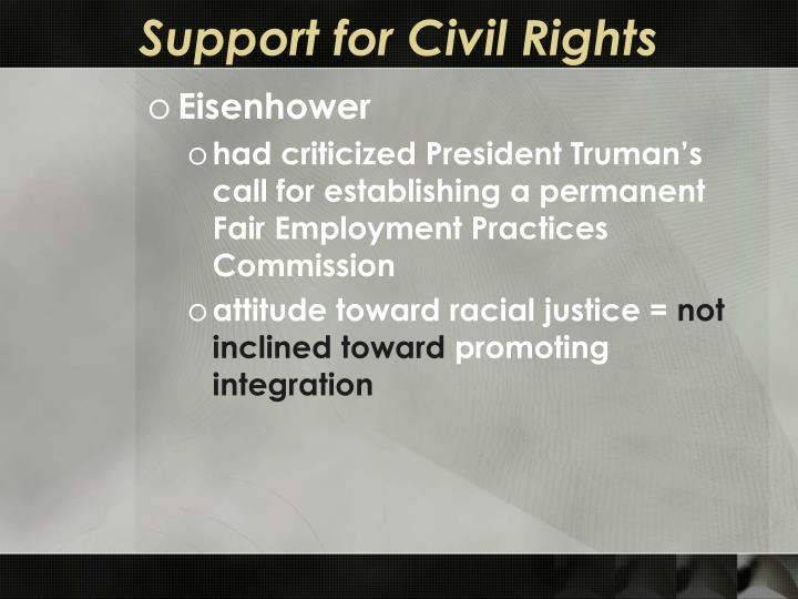 Support for Civil Rights