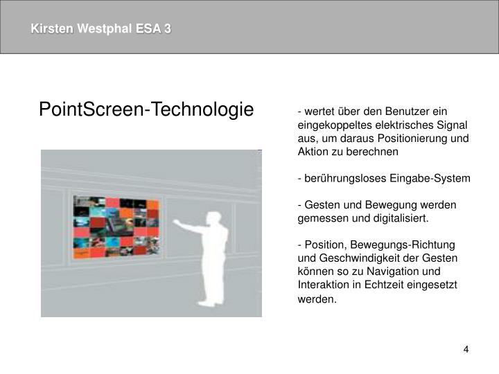 PointScreen-Technologie