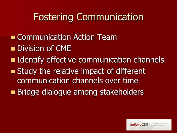 Fostering Communication