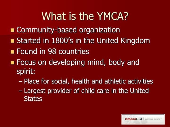 What is the YMCA?