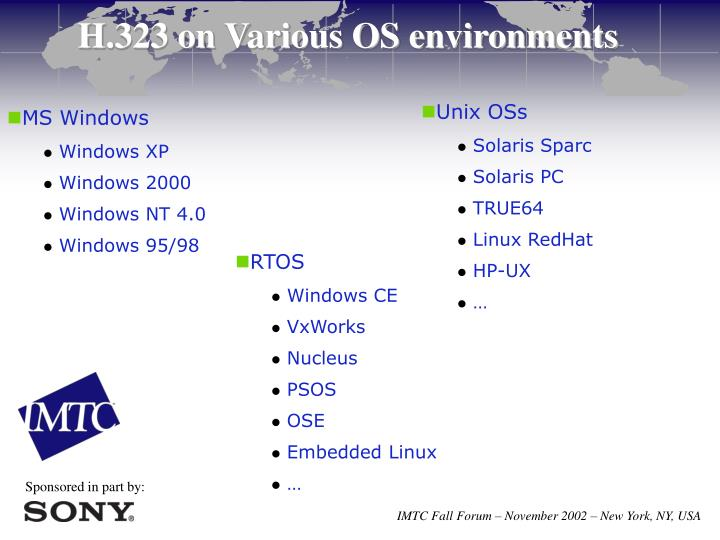H.323 on Various OS environments