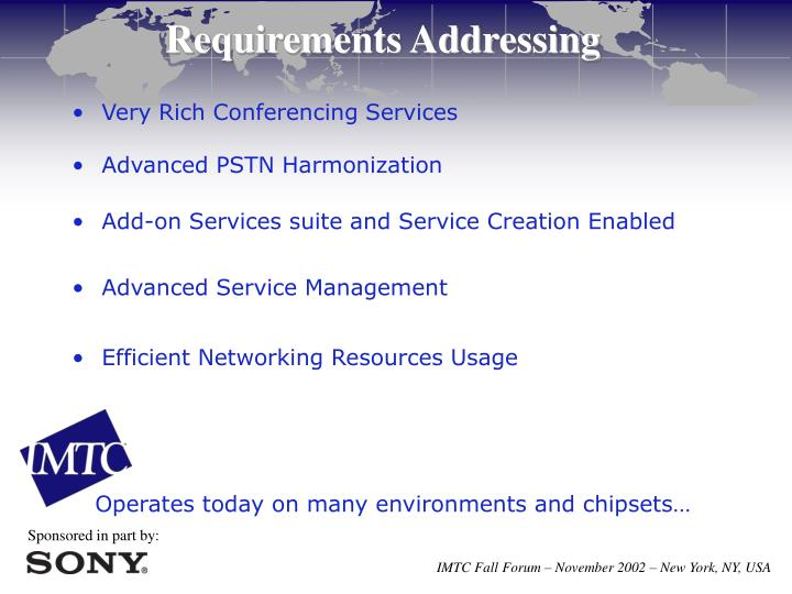 Requirements Addressing