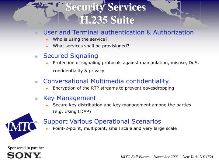 User and Terminal authentication & Authorization