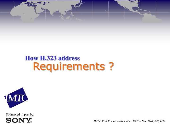 How H.323 address