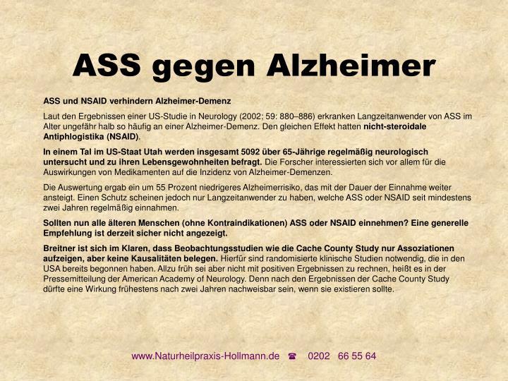 ASS gegen Alzheimer