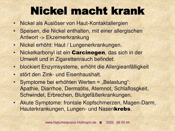 Nickel macht krank