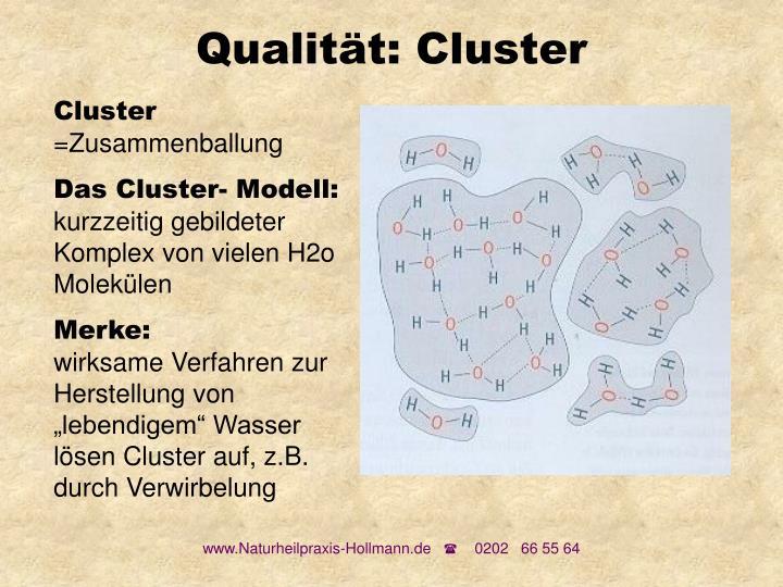 Qualität: Cluster