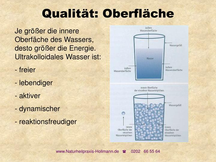 Qualität: Oberfläche