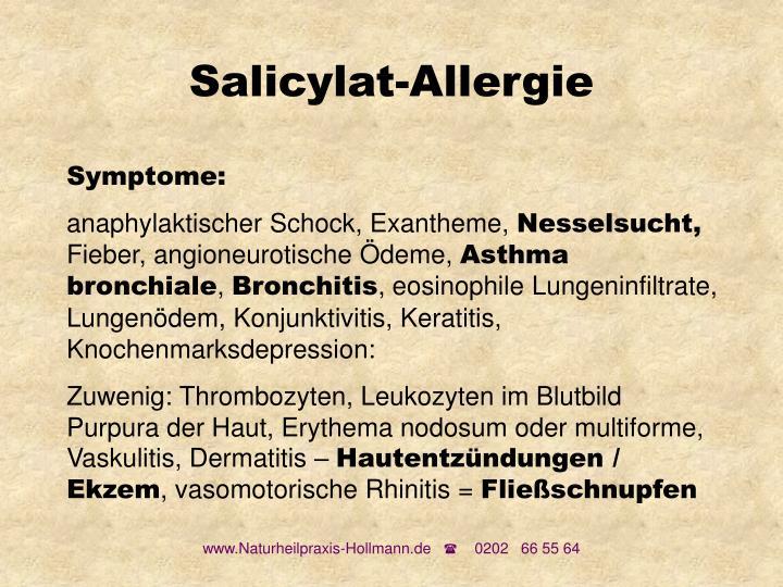 Salicylat-Allergie
