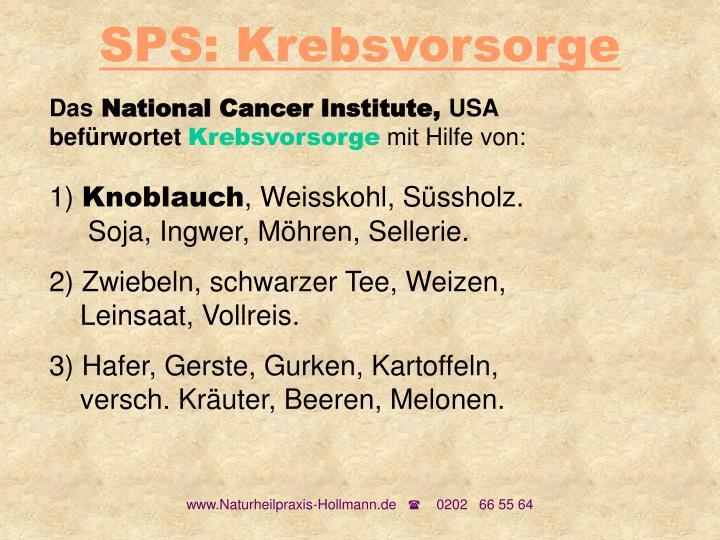SPS: Krebsvorsorge