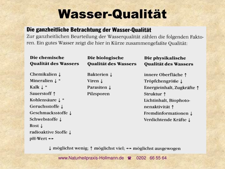 Wasser-Qualität
