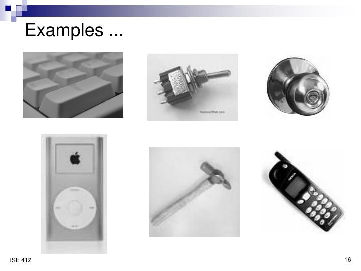 Examples ...