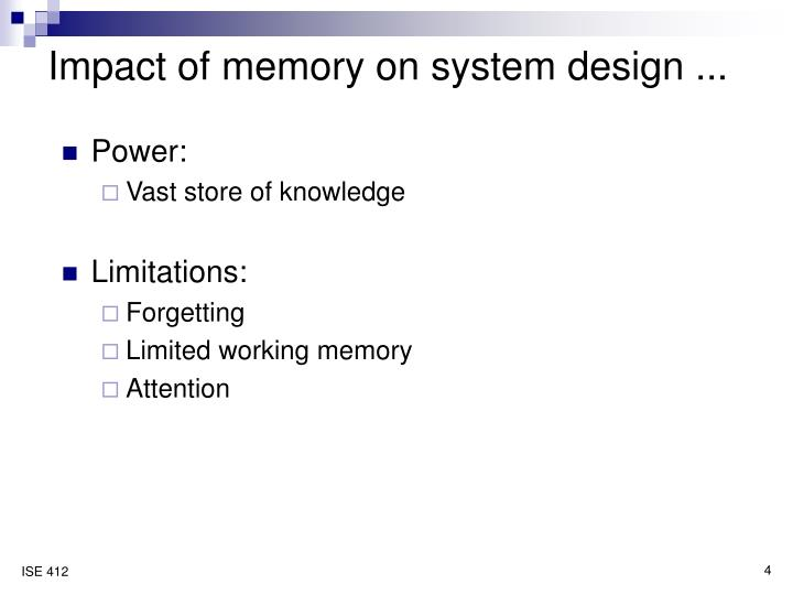 Impact of memory on system design ...