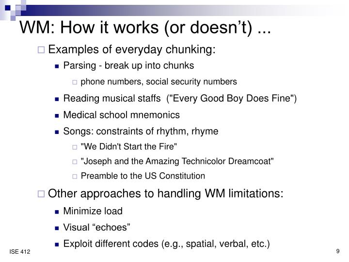 WM: How it works (or doesn't) ...